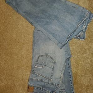 American eagle jeans kick boot